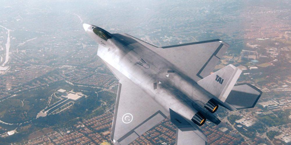 Vue 3D du projet TF-X - l'avion de chasse de 5ᵉ génération construit par la Turquie