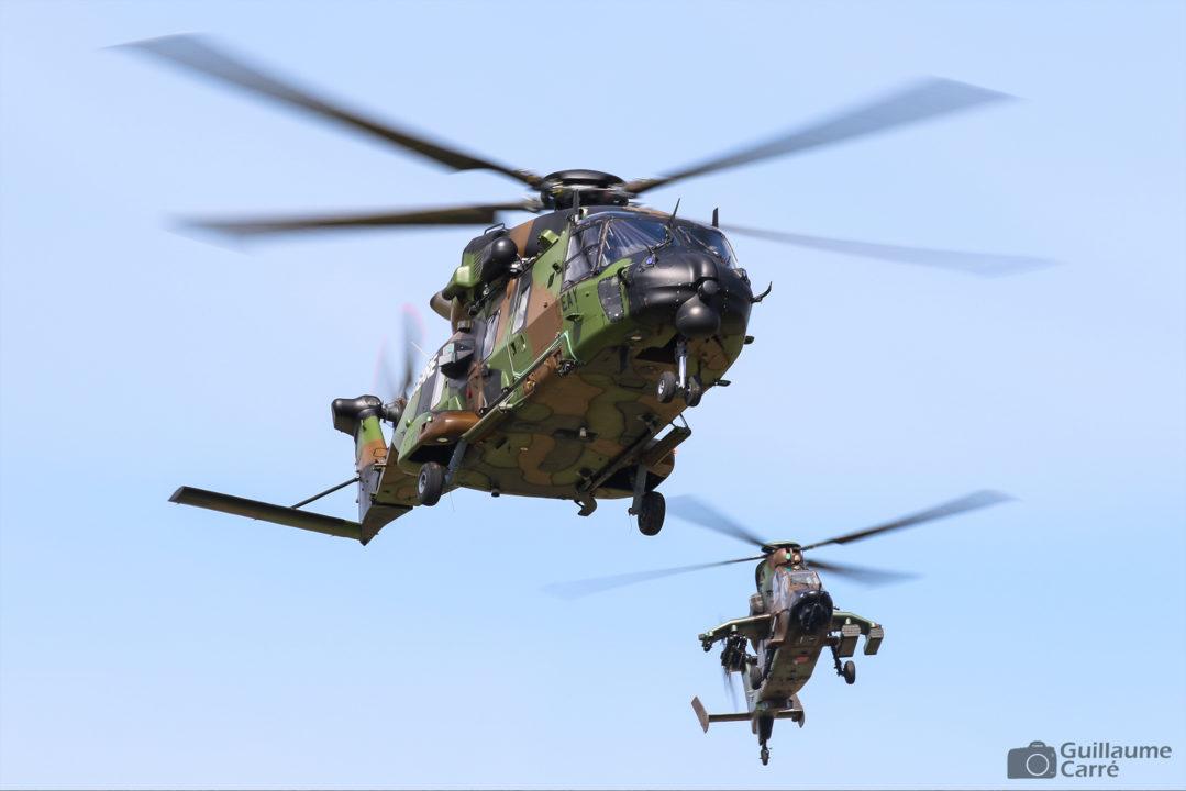 NH90 et Tigre de l'ALAT au meeting aérien de Valence