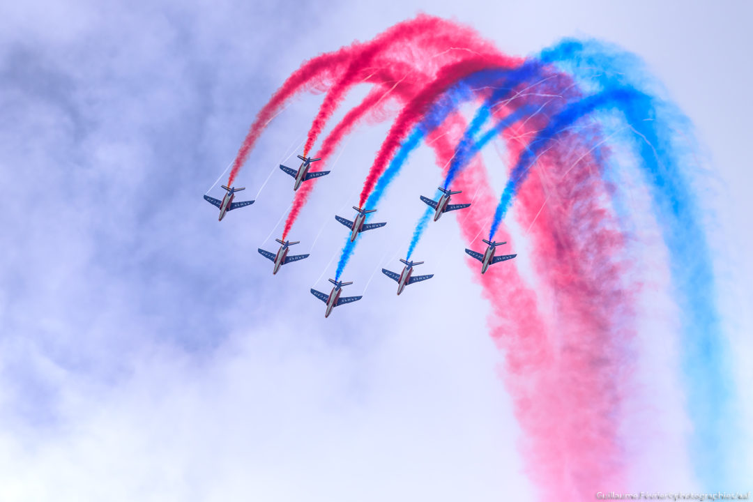 Patrouille de France au meeting de l'Air d' Evreux
