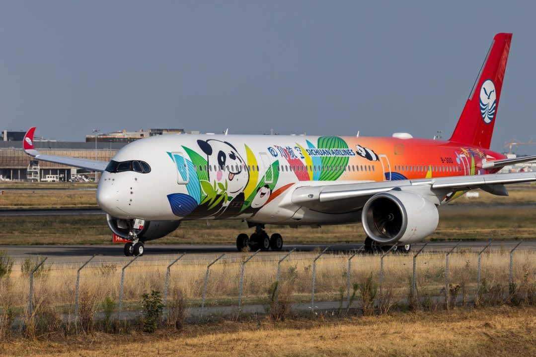 """1er A350-941 Sichuan Airlines livrée spéciale """"Panda"""""""