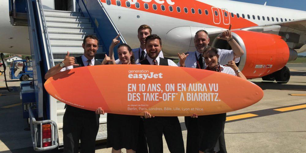 1er vol entre Biarritz et Berlin d'easyJet