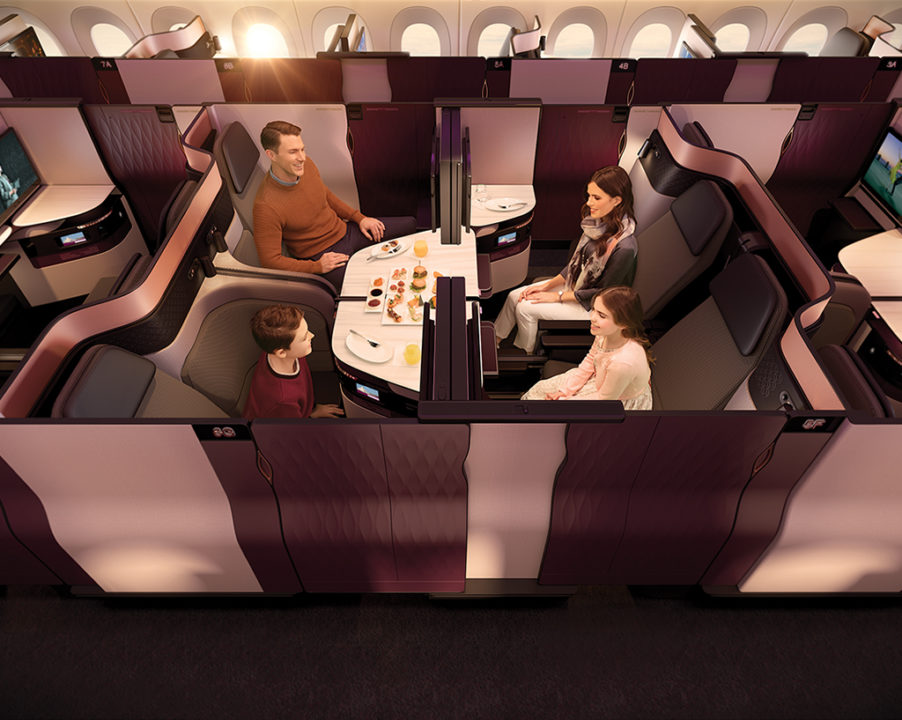 Qsuite en classe Business de Qatar Airways