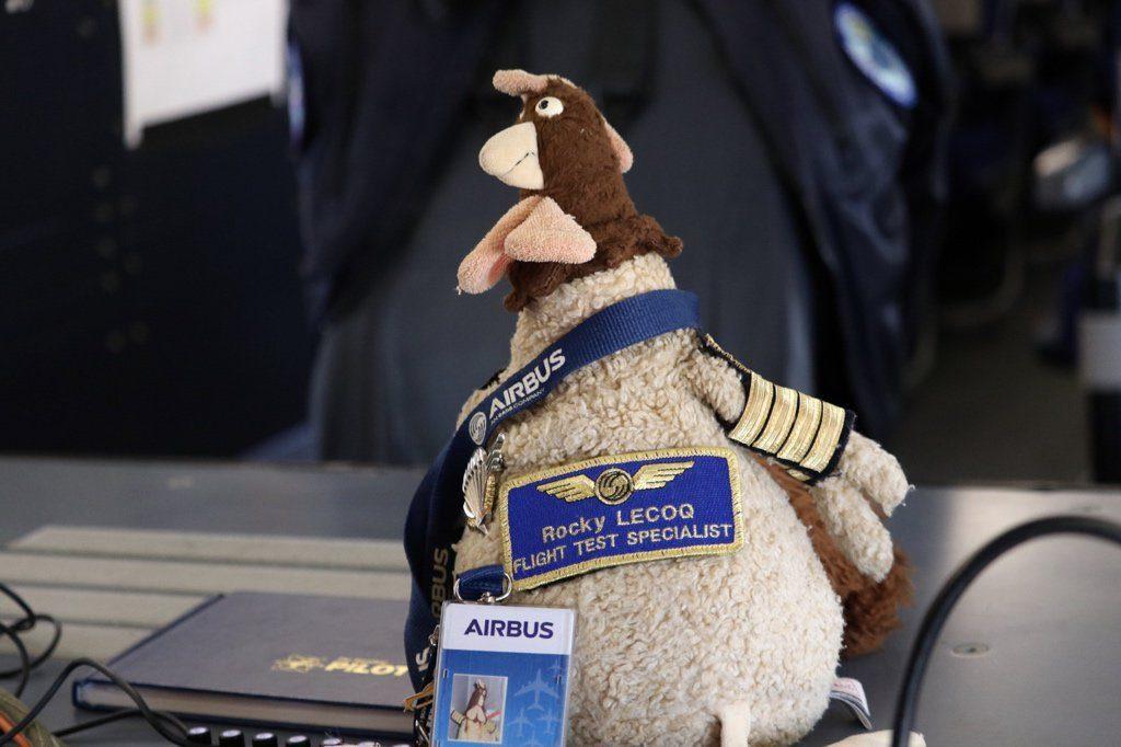 Rocky LECOQ «Flight Test Specialist» et mascotte des Essais en volAirbus