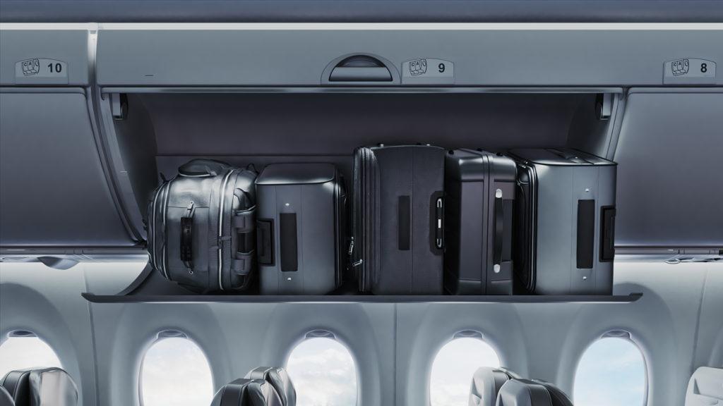 Les coffres à bagages spacieux de l'Airbus A220
