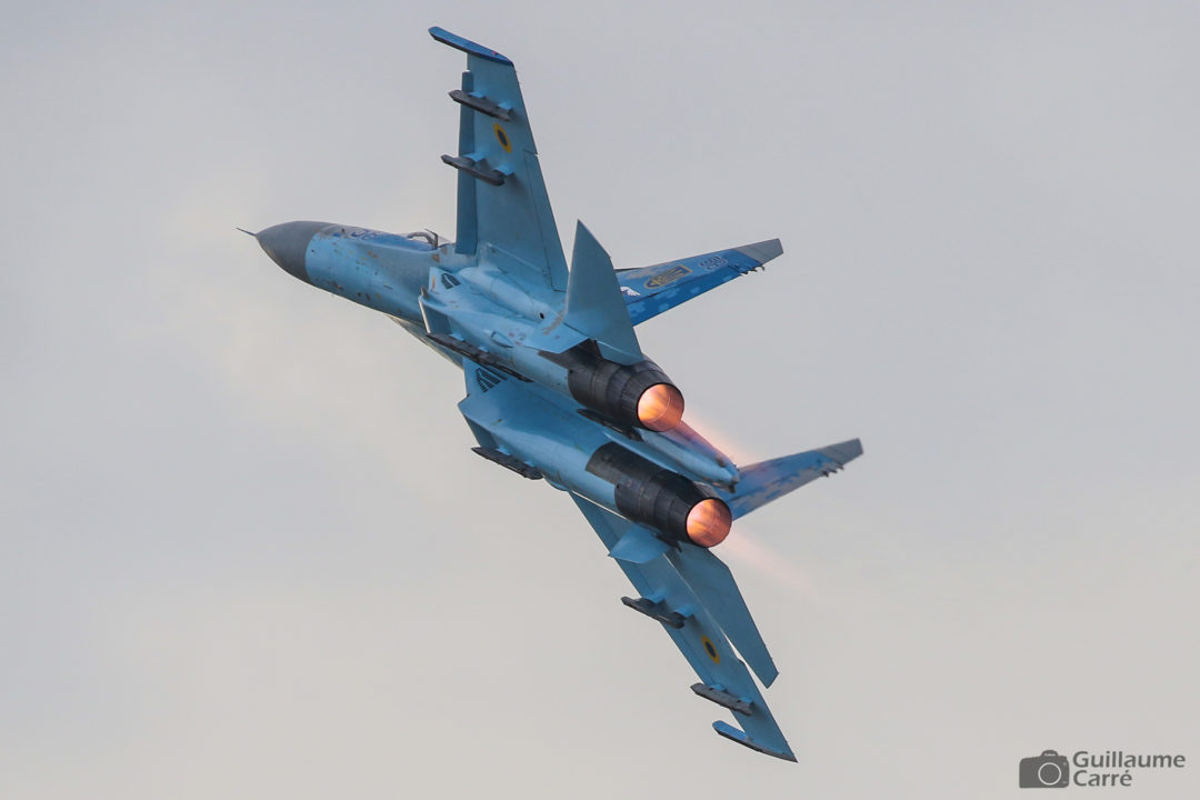 Ukranian Air Force Sukhoi 27 Flanker at The Royal International Air Tattoo 2018