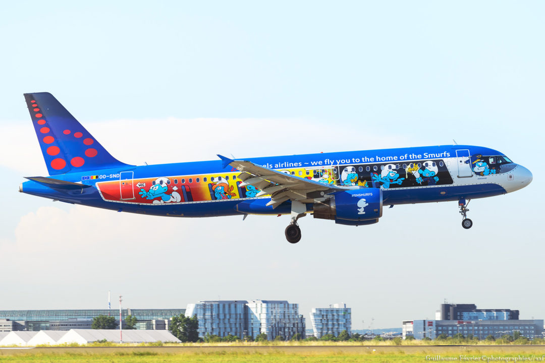 "OO-SND Airbus A320-214 Brussels Airlines ""The Smurfs"" livery (BRU/EBBR)"