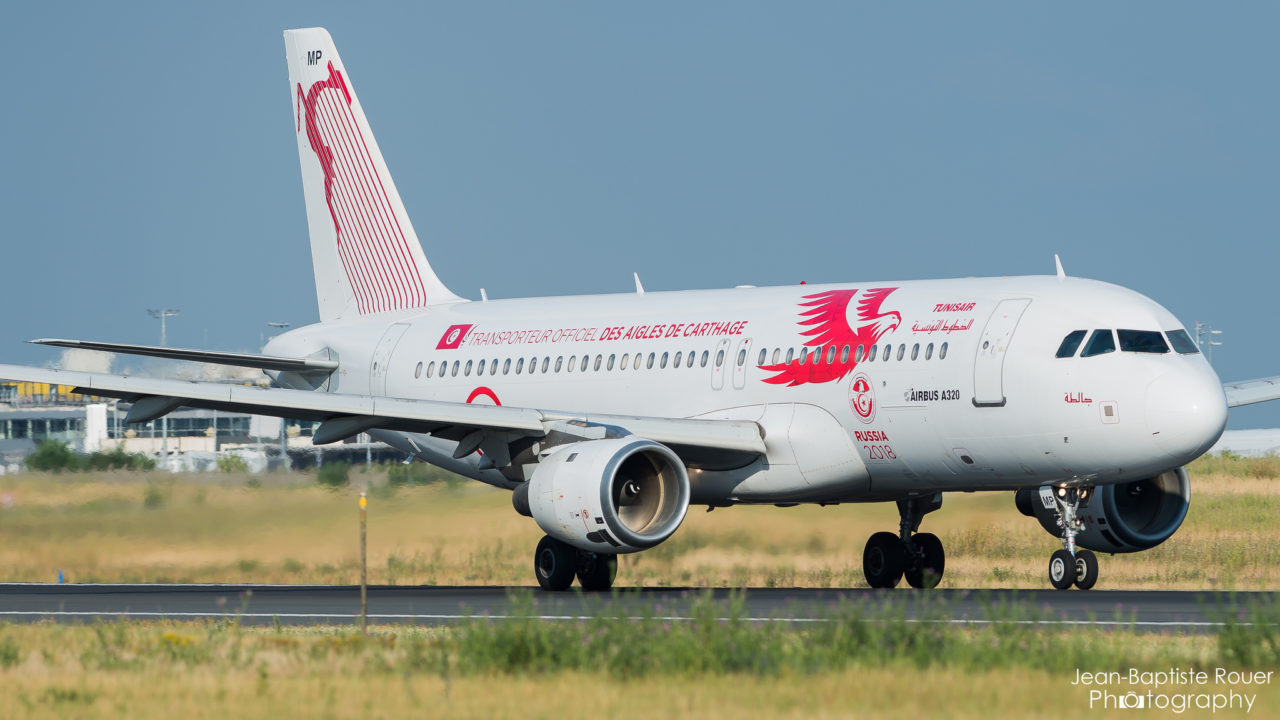 "Airbus A320-214 Tunisair ""Carthage Eagles FIFA 2018 Livery"" TS-IMP"