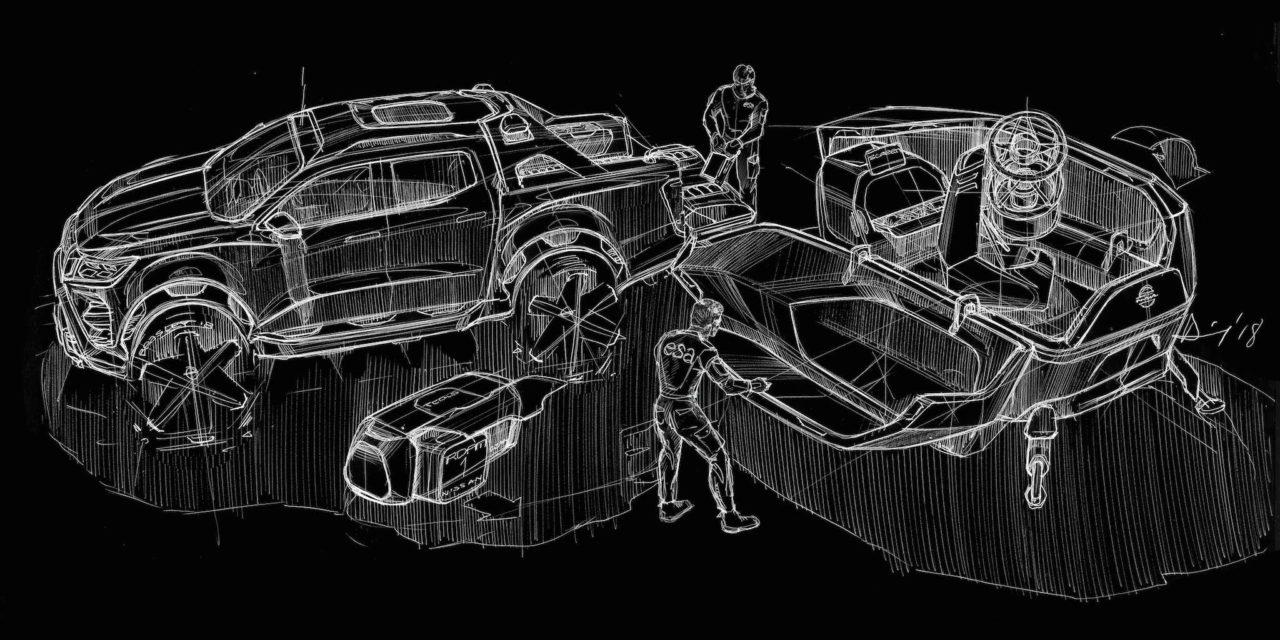 Concept du Nissan Navara Dark Sky pour l'ESA