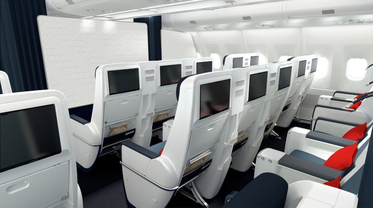 Nouvelle cabine Air France Premium Eco des A330 rénovés