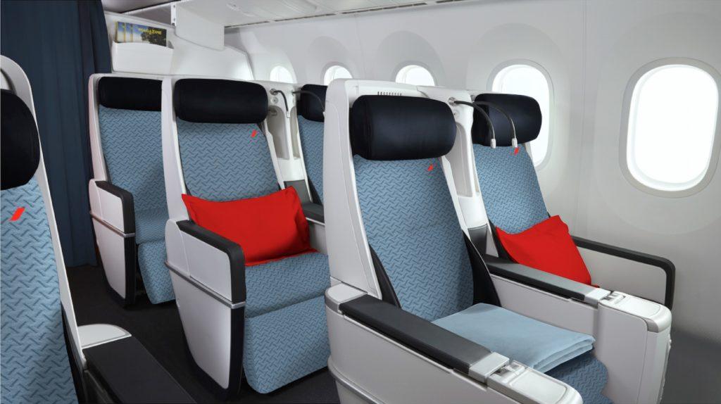 Nouveaux sièges Air France Premium Eco des A330 rénovés