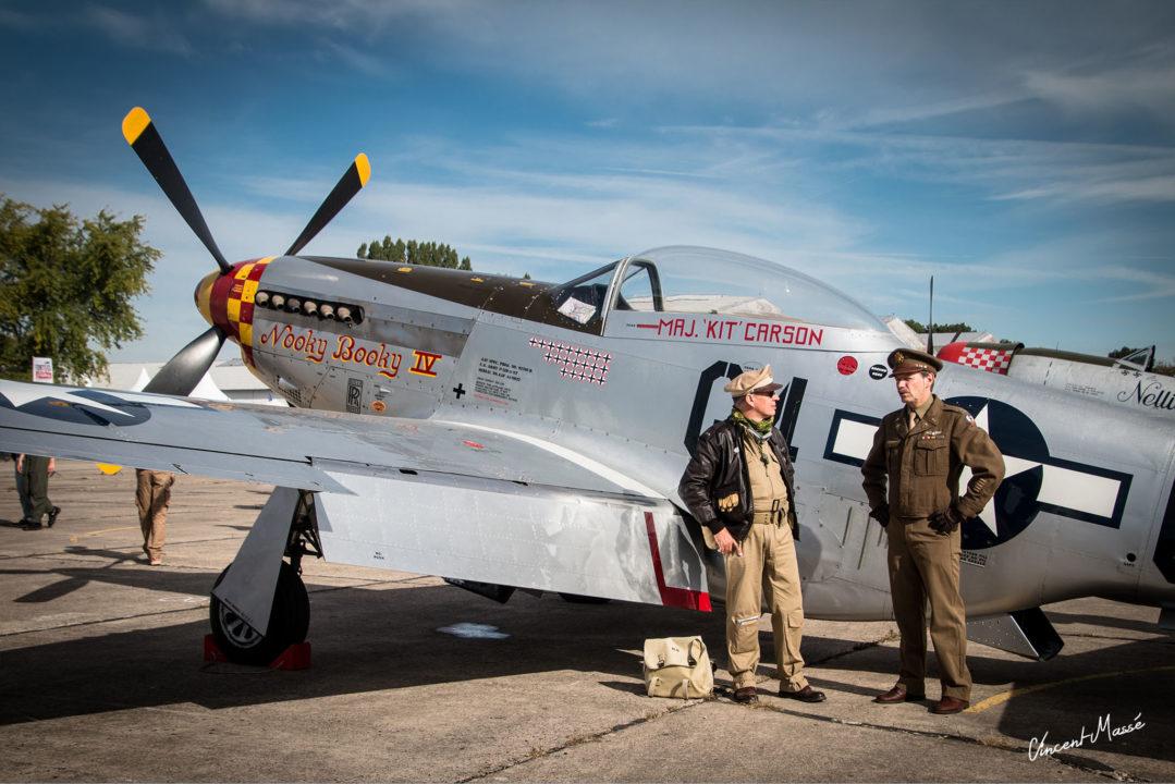 US Air Force avec le North américan P51D Mustang