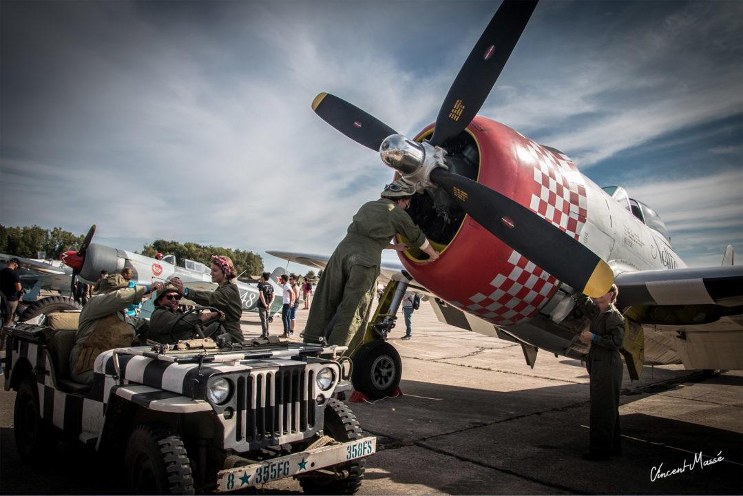 US Air Force avec le Républic P47D Thunderbolt