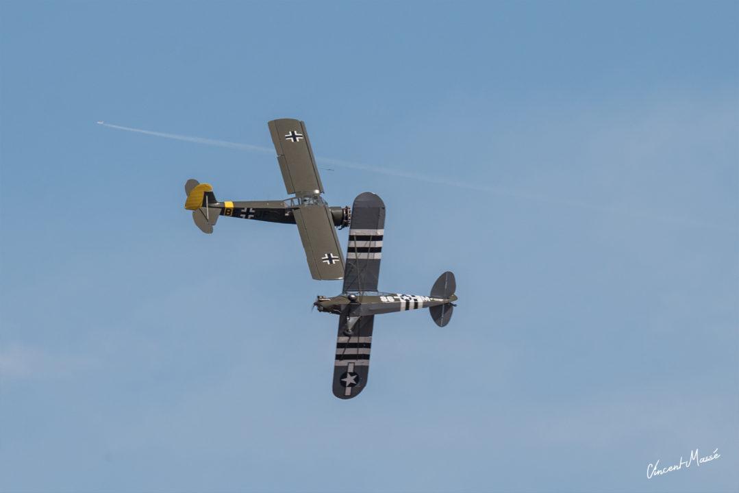 Piper J3 Cub et Morane-Saulnier ms 502 Criquet