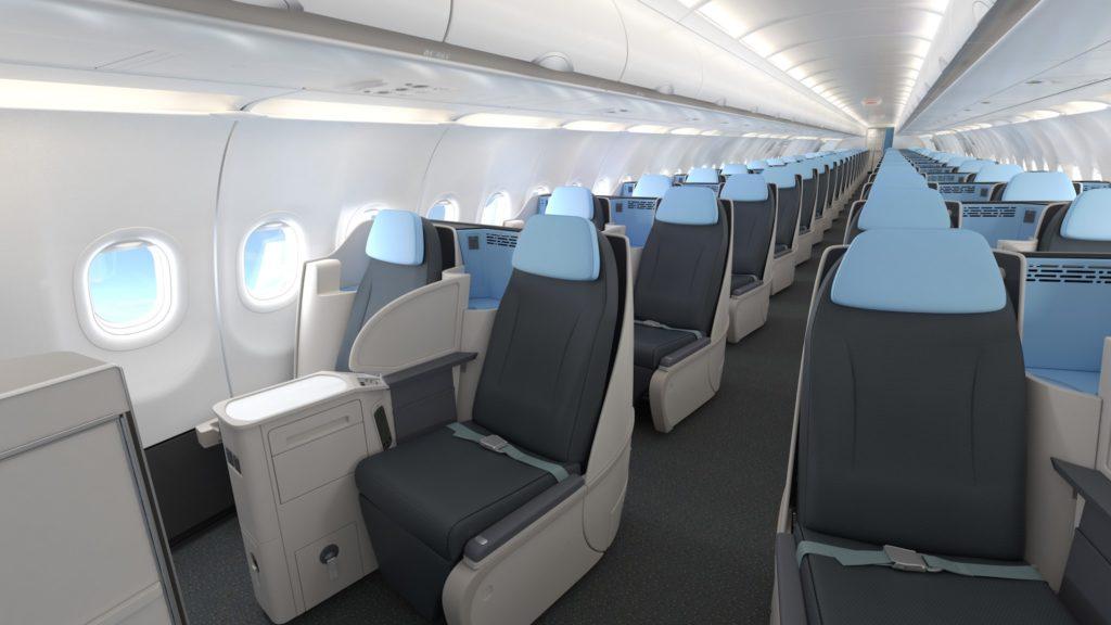 Cabine 100% Business des A321neo La Compagnie