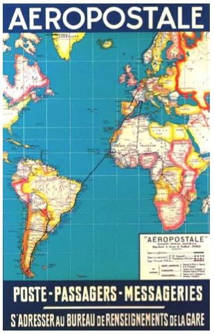 e tracé de la ligne Latécoère en 1928