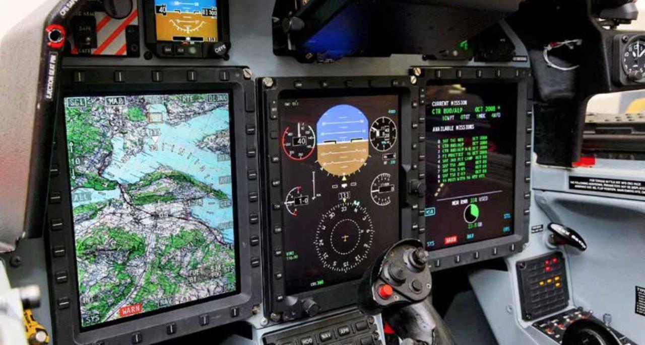 Le cockpit et l'avionique du PC-21