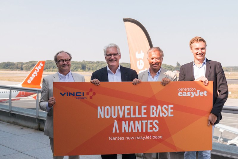 ouverture base easyJet à Nantes