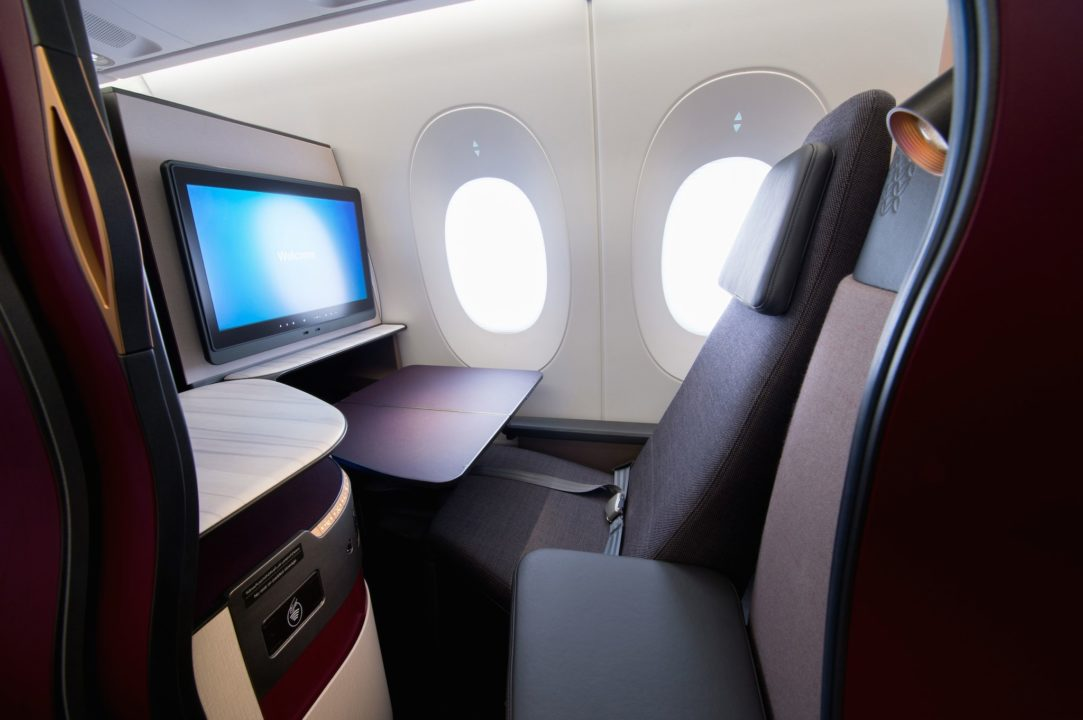Cabine Business avec les Qsuites Qatar Airways