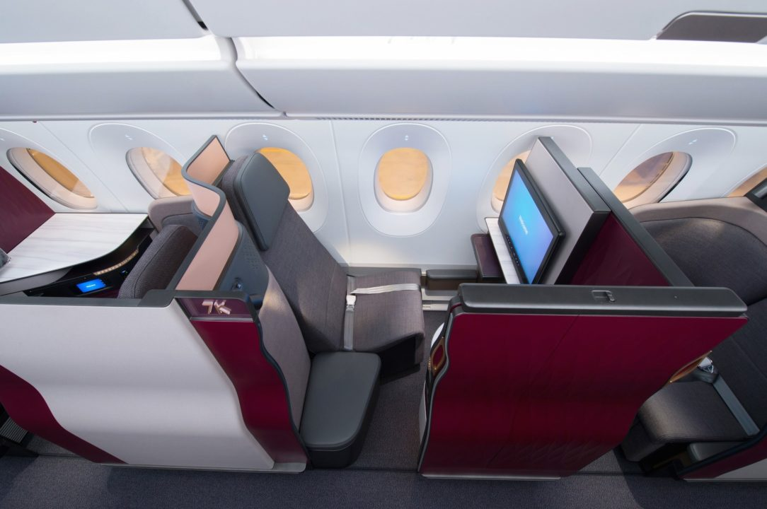 Siège Qsuites Qatar Airways