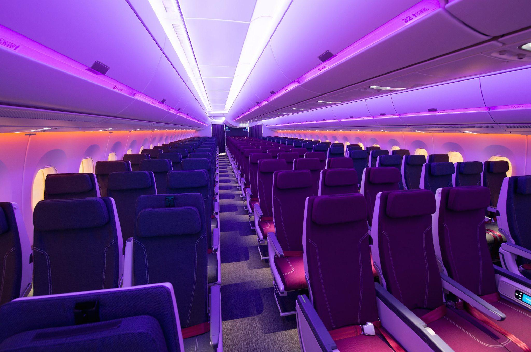 Cabine Eco de l'A350-1000 Qatar Airways