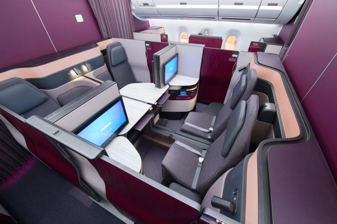 Sièges Qsuites Qatar Airways