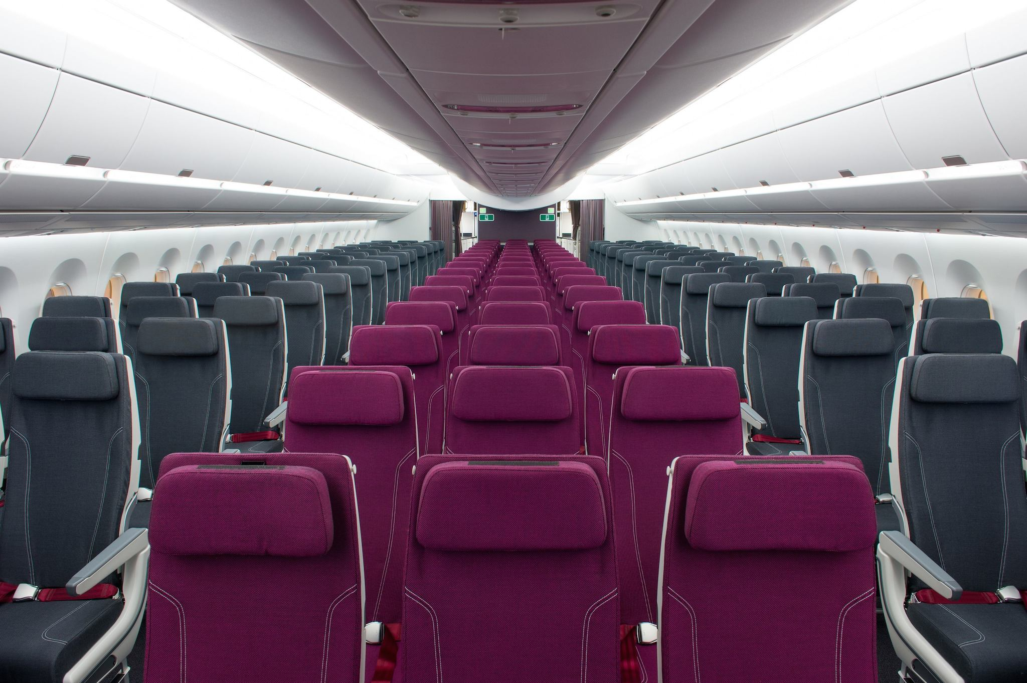 Cabine Eco de l'A350-1000 Qatar Airways