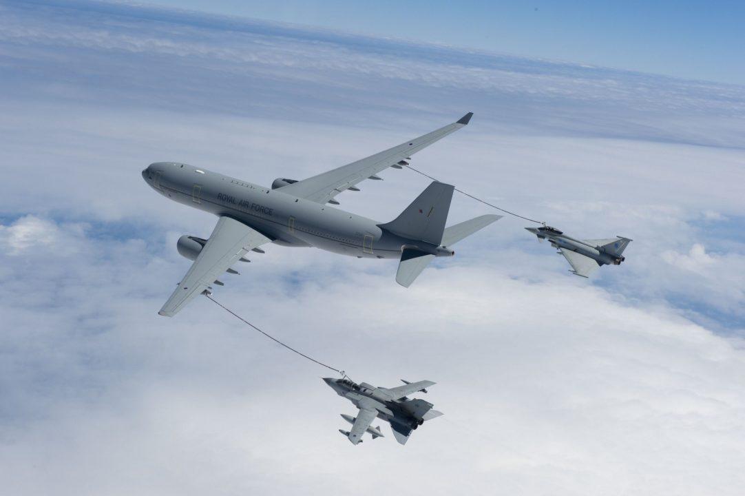 L'A330 MRTT en ravitaillement d'Eurofighter et d'un Tornado