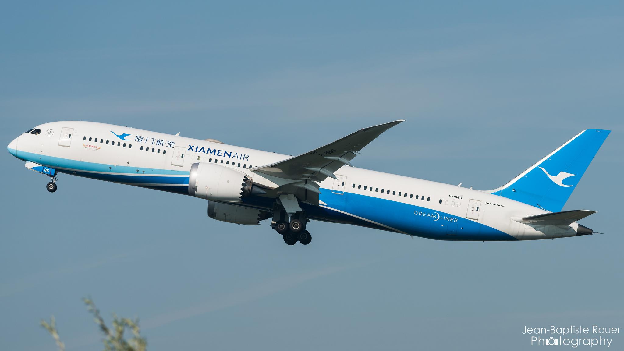 Boeing 787-9 Xiamen Air à Amsterdam