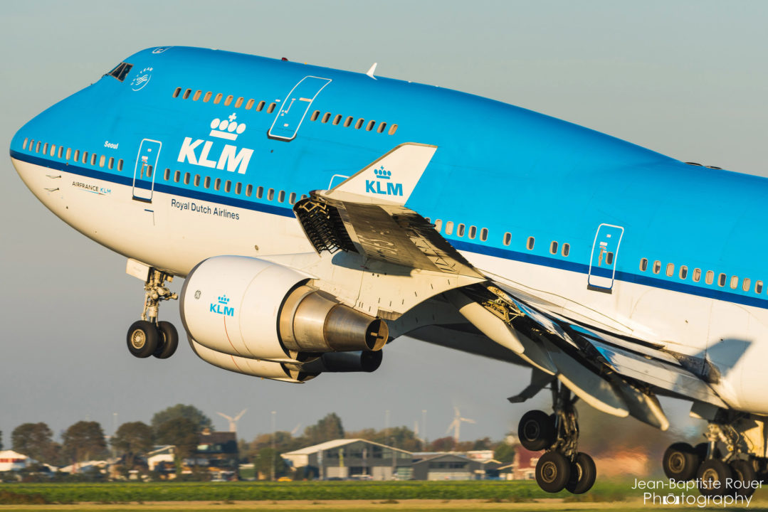 Boeing 747-406 KLM à Amsterdam