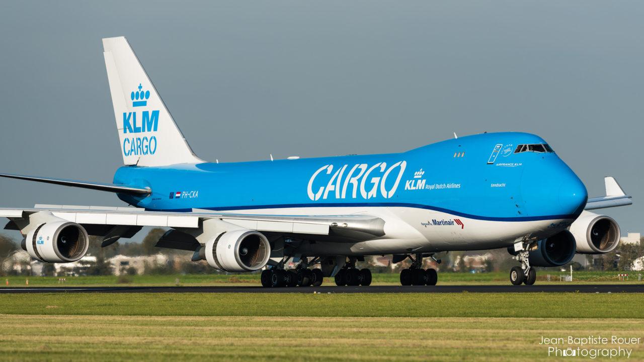 Boeing 747-406F KLM cargo à Amsterdam