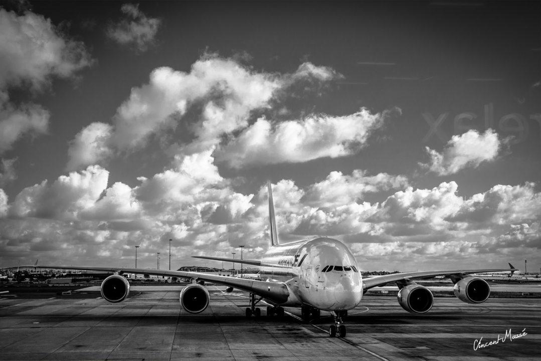 Airbus A380 Airfrance à Paris Charles de Gaulle