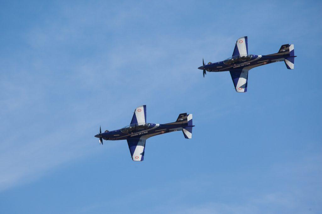Les deux premiers PC-21 en formation