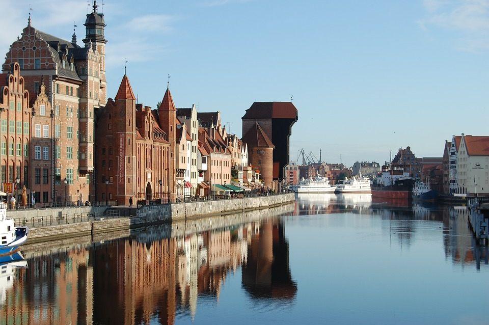 Le port de Gdansk, en Pologne