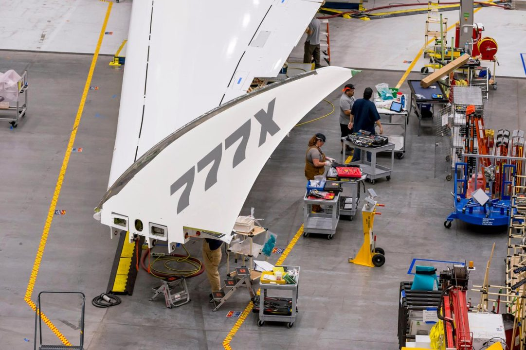 1er Boeing 777X d'essais en vol