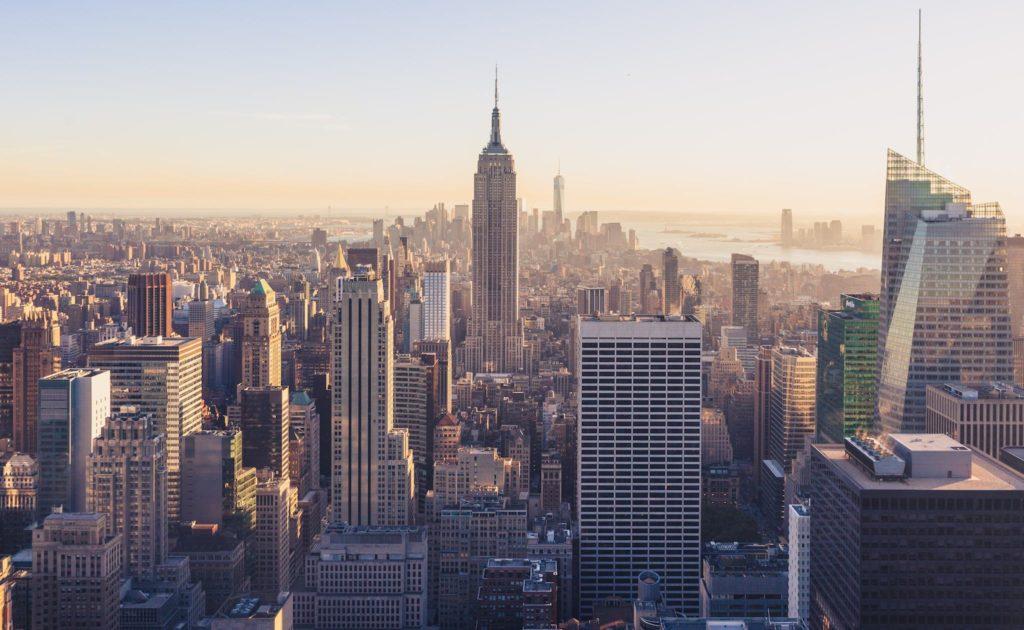 Vue de l'île de Manhattan, l'un des 5 quartiers de New York
