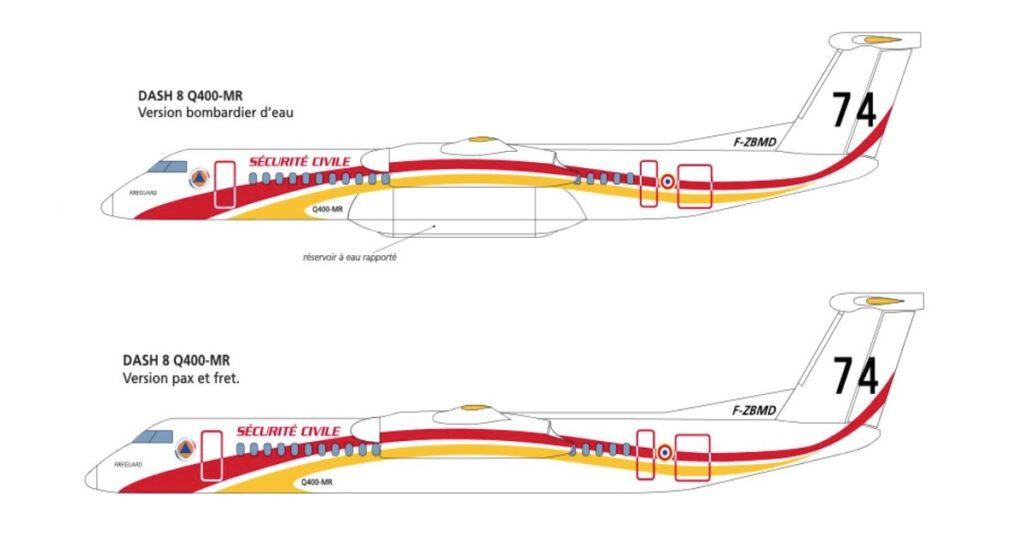 Bombardier Q400MR Sécurité Civile française