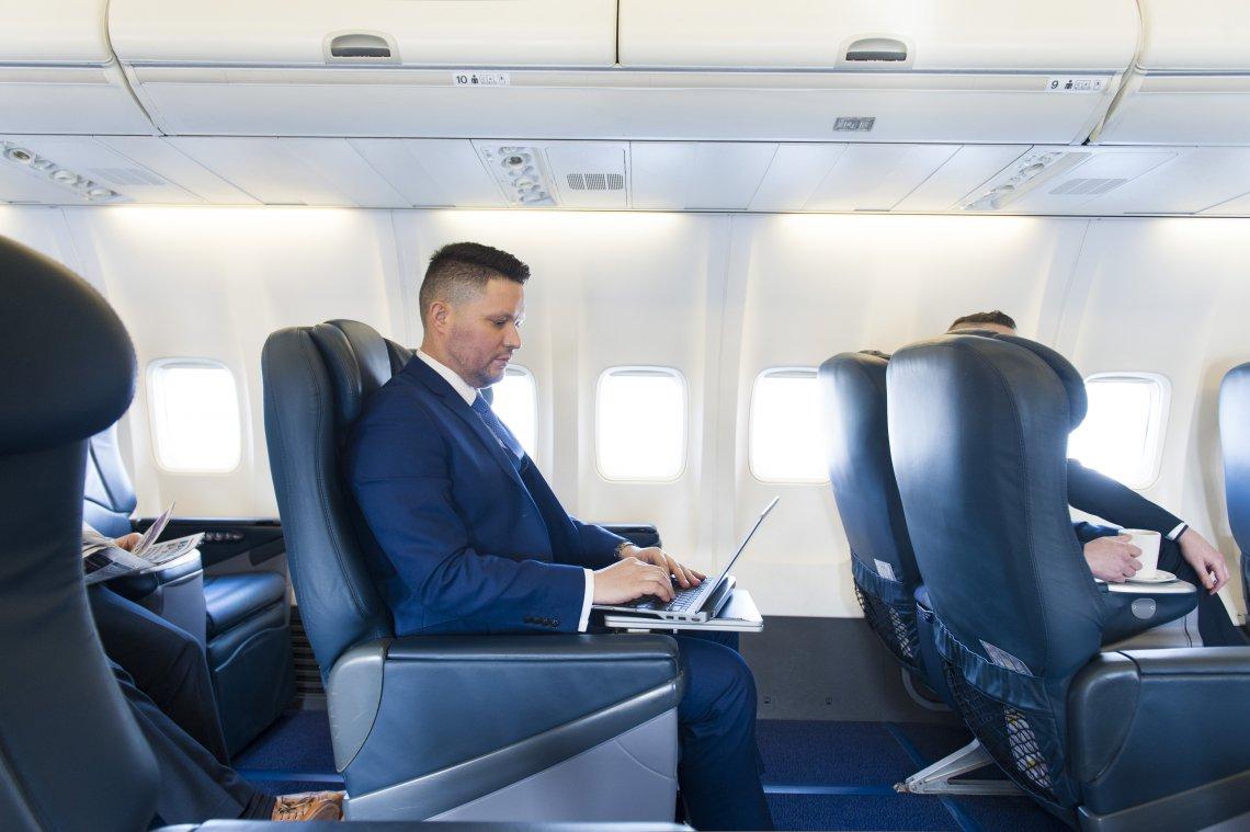 Cabine du Boeing 737-700 Ryanair Corporate Jet