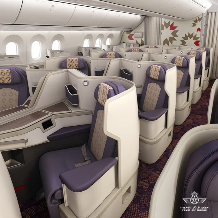 Nouvelle cabine Business Royal Air Maroc