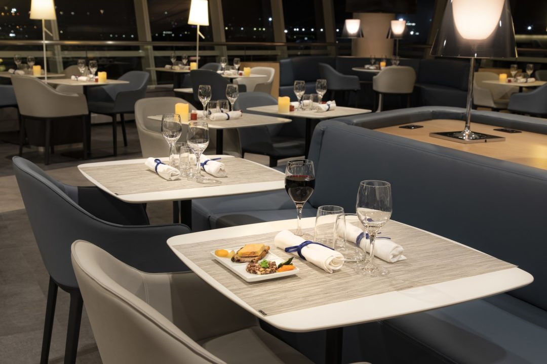 Nouvel espace restauration du salon Air France de New-York