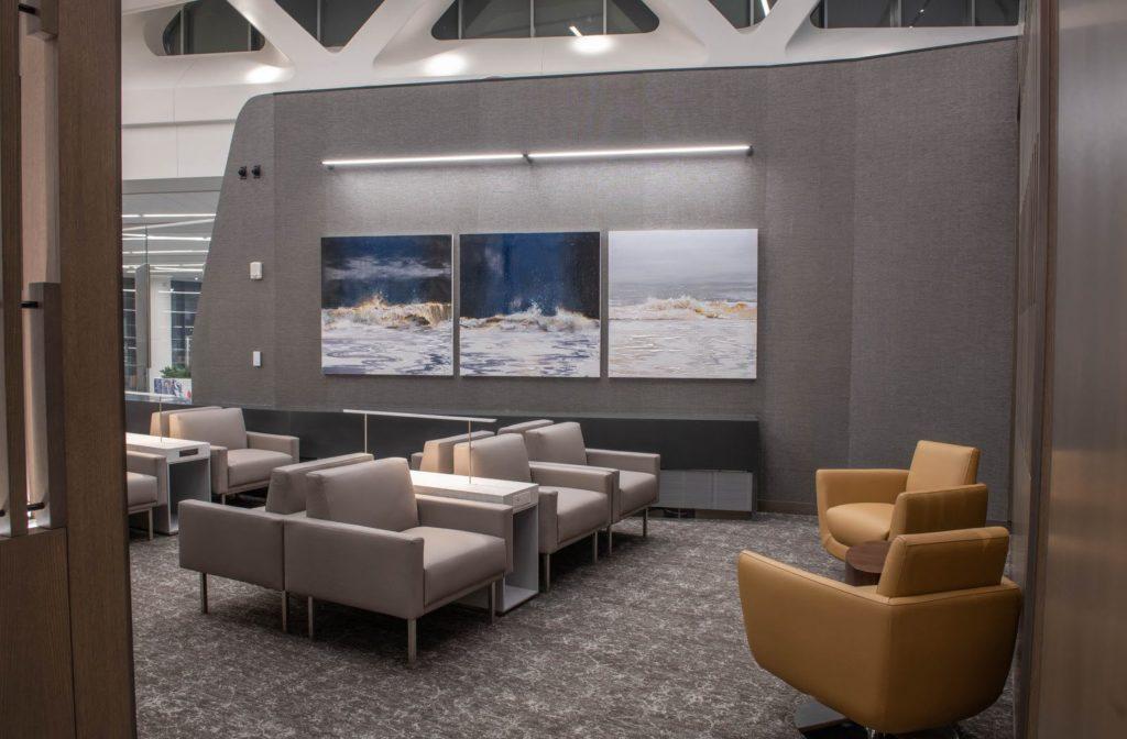 Salon Feuille d'érable d'Air Canada dans la nouvelle aérogare de l'aéroport LaGuardia