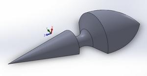 Version de la sonde pour mesurer la vitesse ET l'incidence