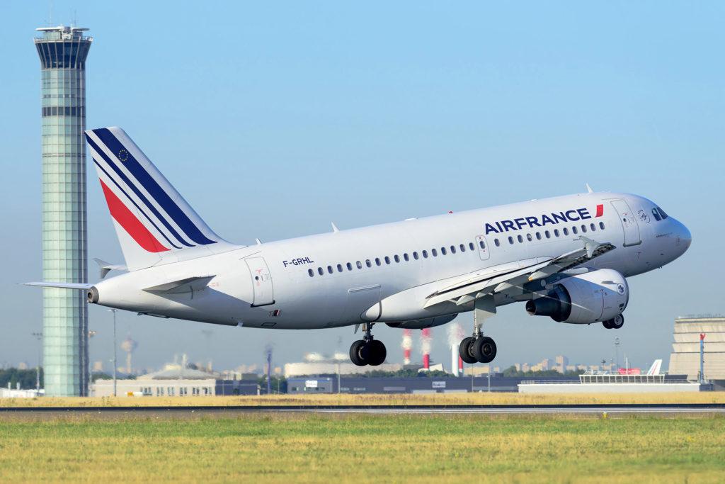 Air France au décollage de CDG