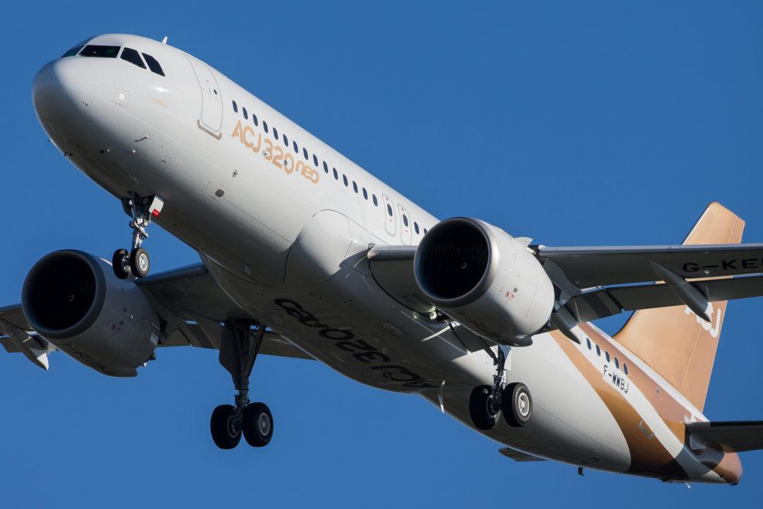 Airbus Corporate Jet ACJ320neo Acropolis Aviation MSN 8403 / D-AVVL / G-KELT