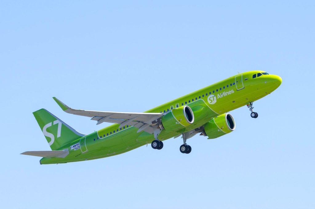 A320neo S7 Airlines au décollage