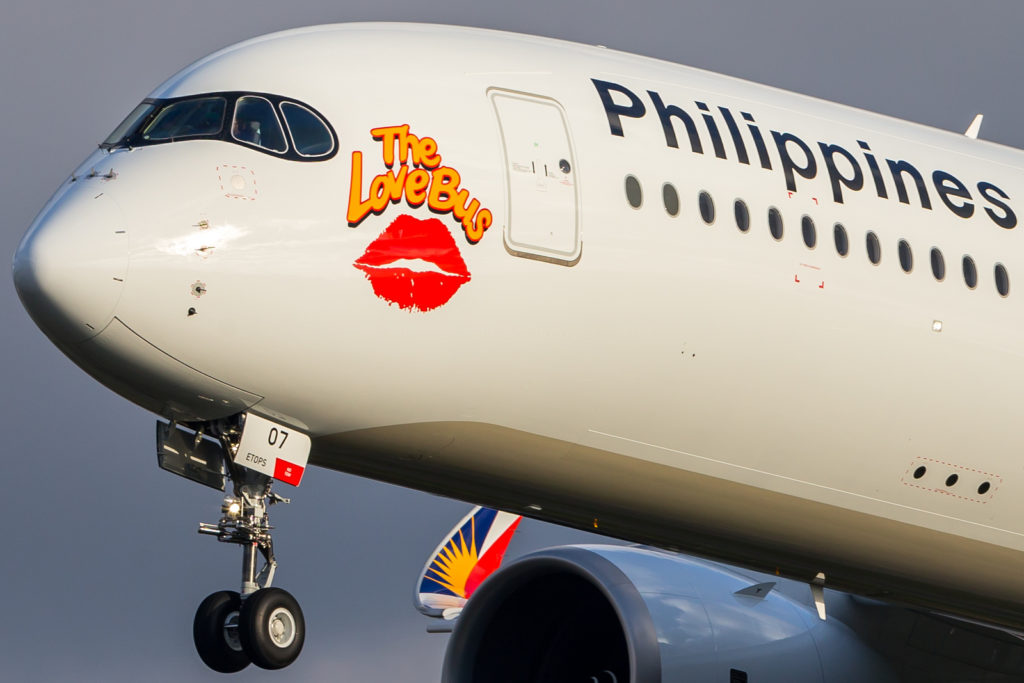 Retour à Blagnac du « Love Bus » 5e A350 Philippine Airlines [MNS 280]
