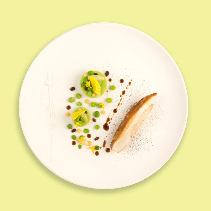 Volaille à la fève de tonka, polenta voasti, sauce poulette