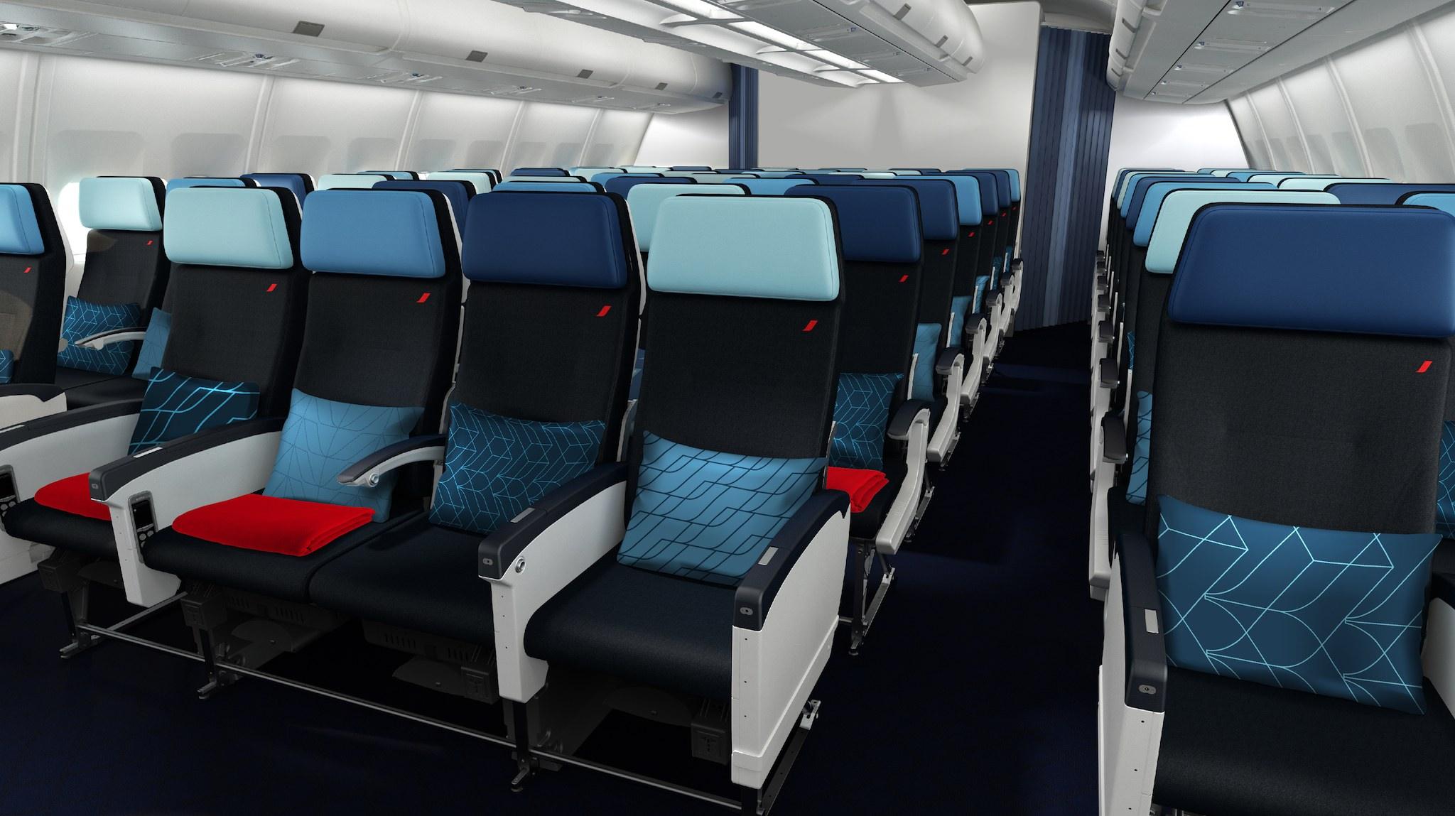 Siège Economy des A330 © Air France