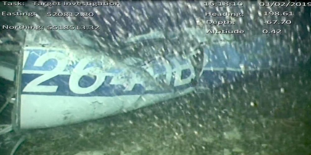 Restes du Piper Malibu N264DB retrouvés dimanche © AAIB