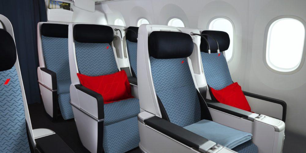 Siège Premium Economy des A330