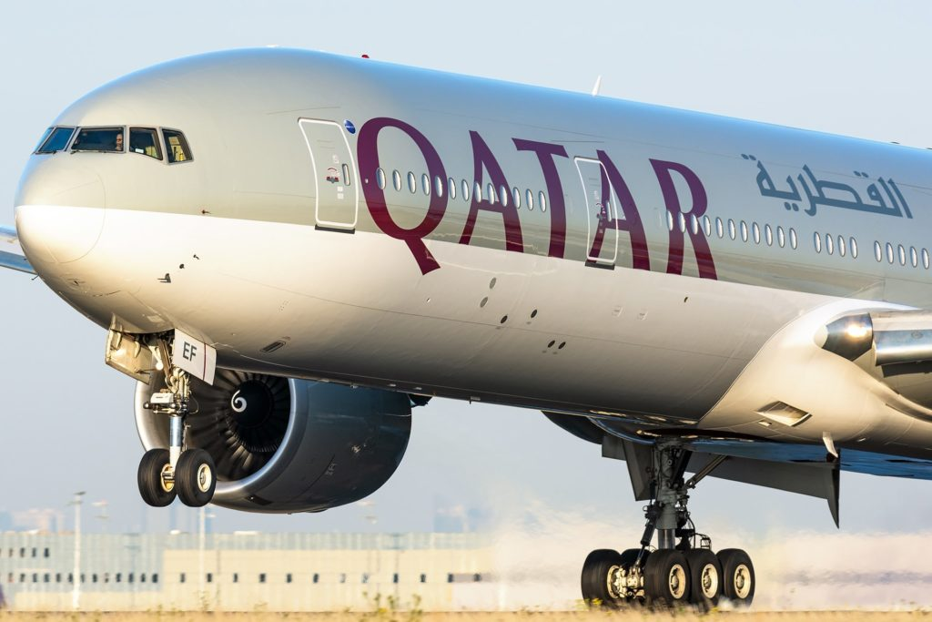 Boeing 777 Qatar © Guillaume Février - reproduction interdite
